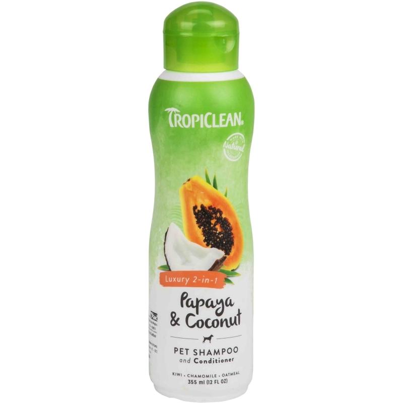 Papaya & Coconut Shampoo Conditioner, Luxury 2-in-1
