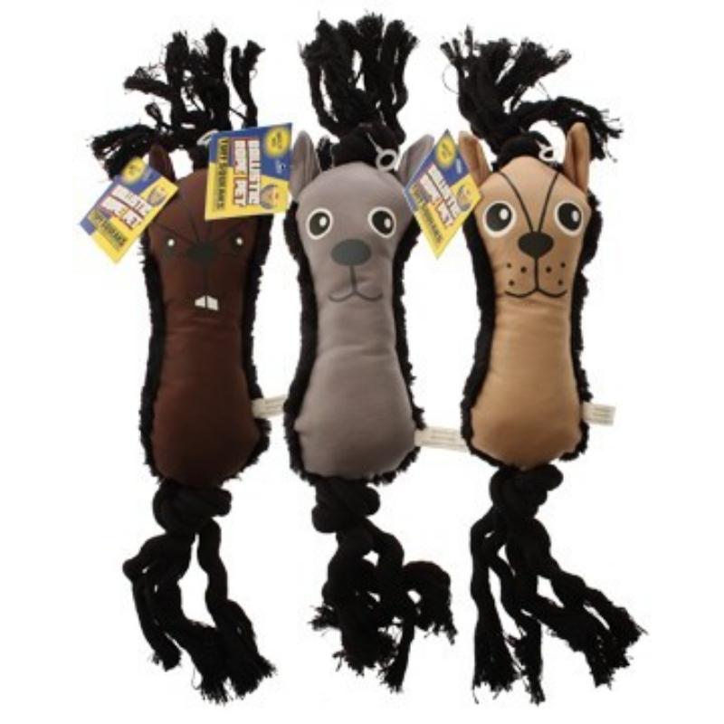 Tuff Squeaks Ballistic Rope Pet Ballistic Fabric