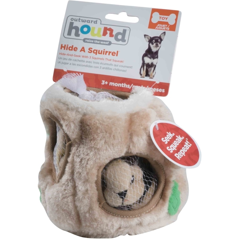 Hide-a-Squirrel Large Puzzle Plush Game for Dogs
