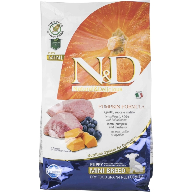 N&D Grain Free Pumpkin Lamb & Blueberry Puppy Mini