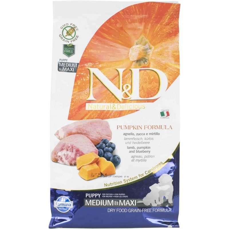 N&D Grain Free Pumpkin Lamb & Blueberry Puppy Medium & Maxi