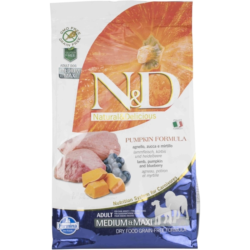N&D Grain Free Pumpkin Lamb & Blueberry Adult Medium & Maxi