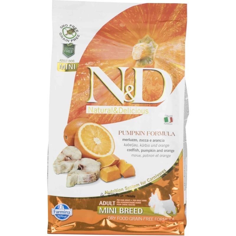 N&D Grain Free Pumpkin Codfish & Orange Adult Mini