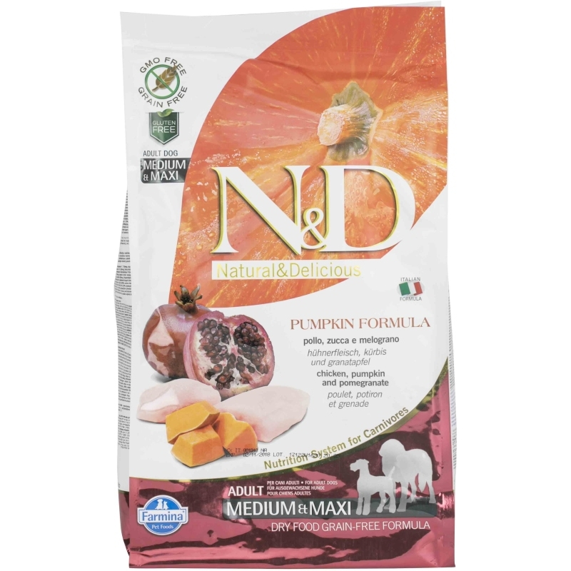 N&D Grain Free Pumpkin Chicken & Pomegranate Adult Medium & Maxi