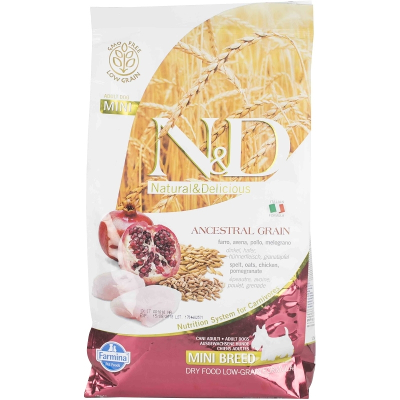 N&D Low Grain Chicken & Pomegranate Adult Mini