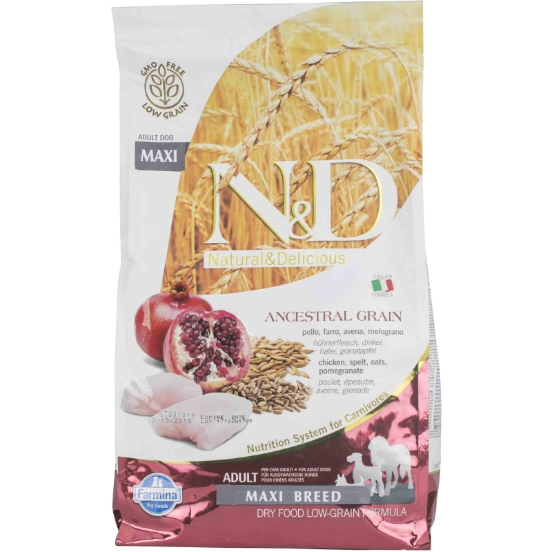 N&D Low Grain Chicken & Pomegranate Adult Maxi