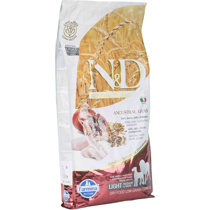 N&D Low Grain Chicken & Pomegranate Light Adult Medium/maxi