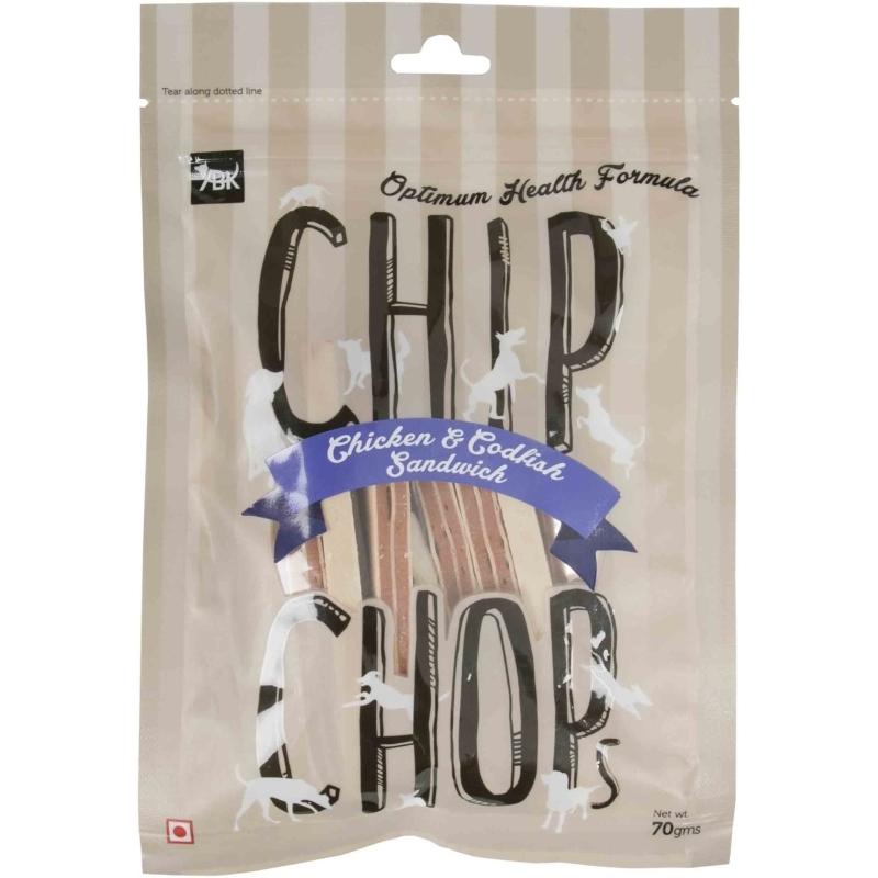 Chip Chops Chicken & Codfish Sandwich