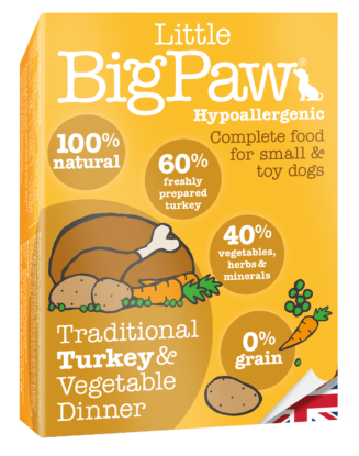 Little Big Paw Traditional Turkey & Vegetable Dinner