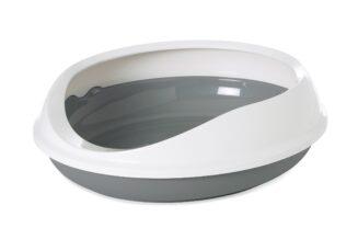 "Figaro Oval Cat Litter Tray + Rim, 22"""
