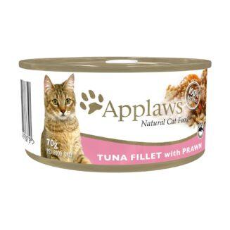 Applaws Cat Tin - Tuna Fillet with Prawns