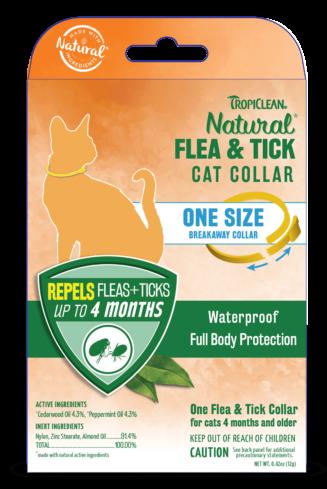Natural Flea and Tick Cat Collar, One-Size Breakaway Collar