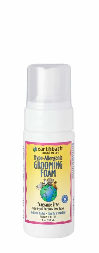 Earthbath-Hypo-Allergenic Grooming Foam w/ Fragrance Free with Organic Fair Trade Shea Butter