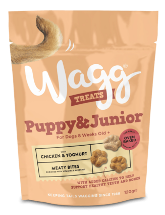 Wagg Puppy & Junior Meaty Bites with Chicken & Yoghurt