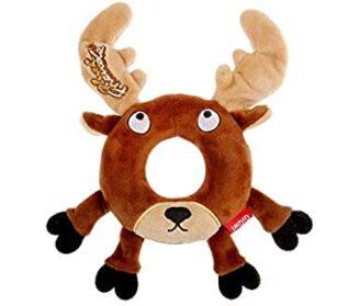 Gigwi Deer 'Plush Friendz' w/Foam Rubber ring and Squeaker
