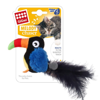 GiGwi Toucan 'Melody Chaser' w/motion activated sound chip