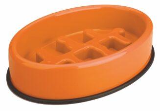 M Pets Fishbone - Slow Feed Bowl Anti-scoff/Anti-slip Oval Bowl