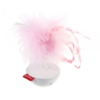 GiGwi Wobble Feather 'Pet Droid' w/natural feather caps and sound module