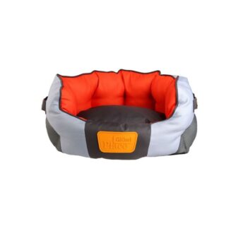 GiGwi Place -Soft Bed Canvas & TPR Grey and Red