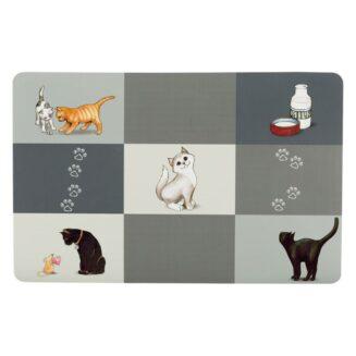Trixie-Place Mat with Patchwork Cat Motif
