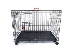 M-Pets VOYAGER Wire Crate - 2 doors with wheels