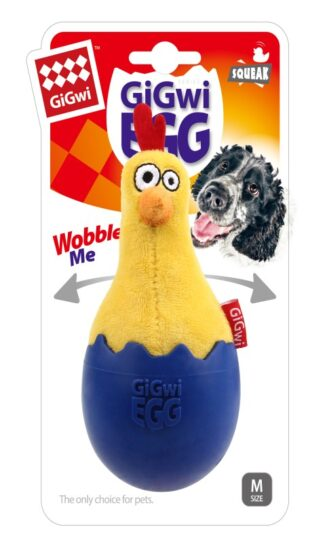 GiGwi EGG Wobble Fun Cock TPR & plush Combination