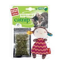 GiGwi Sheep Refillable Catnip with 3 catnip teabags
